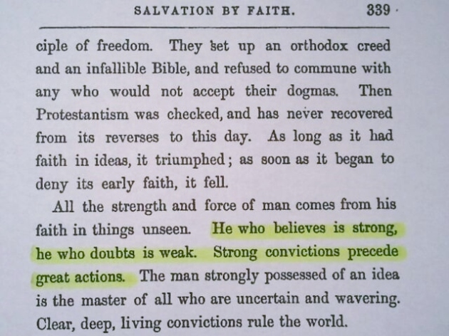 The Correct Quote Found in Chapter XV of Common-Sense in Religion by James Freeman Clarke