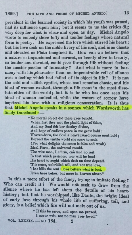 Excerpt from North American Review Article Stating Wordsworth Did the Translation
