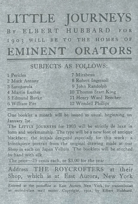 """Antony"" Found in the List of the 1903 Eminent Orators Subseries"