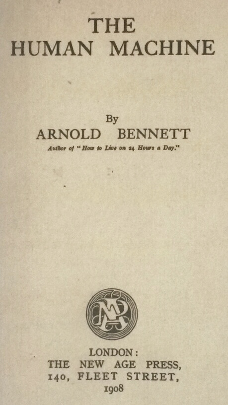 Title Page of 'The Human Machine' by Arnold Bennett