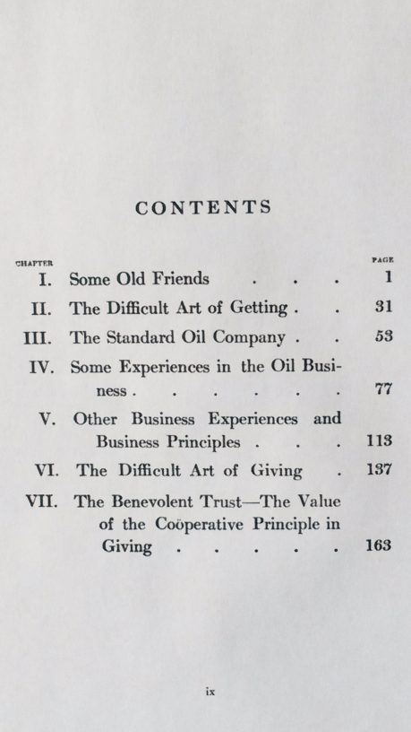 'Random Reminiscences of Men and Events' Table of Contents
